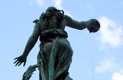 Staty av kvinnan Arkivfoto