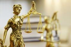 Staty av Lady Rättvisa (Justitia) Royaltyfri Foto