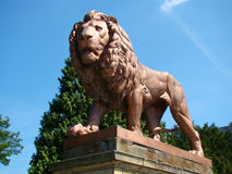 Staty av lionen Royaltyfria Foton