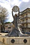 Staty av liraen i Rieti Royaltyfri Fotografi
