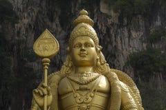Staty av Lord Murugan, utanför de Batu grottorna, Kuala Lumpur arkivbilder