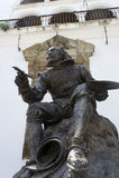 Staty av målaren Zurbaran Royaltyfri Fotografi