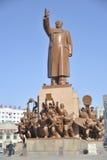 Staty av Mao Zedong Arkivbild