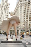 Staty av Marilyn Monroe i Chicago Arkivfoto