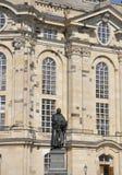 Staty av Martin Luther från Dresden i Tyskland royaltyfri foto