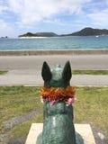 Staty av Marylin på den Zamami ön, Okinawa, Japan Royaltyfri Fotografi