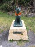 Staty av Marylin på den Zamami ön, Okinawa, Japan Royaltyfria Bilder