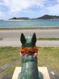 Staty av Marylin på zamamiön, Okinawa, Japan Arkivfoto