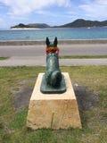 Staty av Marylin på zamamiön, Okinawa, Japan Fotografering för Bildbyråer