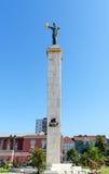 Staty av Medea i Batumi georgia royaltyfri fotografi