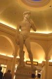 Staty av Michelangelo's David i Caesar Palas, Las Vegas, USA Arkivbild