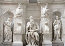 Staty av Moses, Michelangelo, San Pietro i Vincoli, Rome royaltyfri fotografi