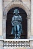 Staty av Napoleon Bonaparte i Paris, Frankrike Arkivbild