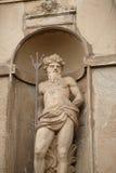Staty av Neptun i den Kronborg slotten, Danmark Arkivbild