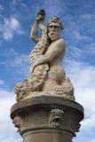 Staty av Neptun, Lowestoft, Suffolk, England Royaltyfri Fotografi