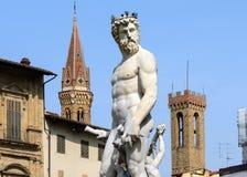 Staty av Neptun, piazzadella Signoria, Florence (Italien) Royaltyfri Foto