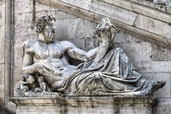 Staty av Neptune Fotografering för Bildbyråer