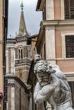 Staty av Neptune Arkivbilder