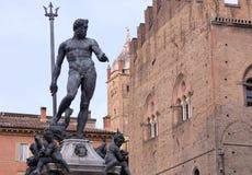 Staty av Neptunspringbrunnen Arkivbild