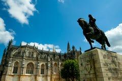 Staty av Nuno alvares Pereira royaltyfria foton