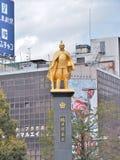 Staty av Oda Nobunaga Arkivfoto