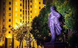 Staty av ordföranden Mao Zedong Shanghai royaltyfria foton