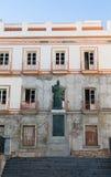Staty av påven i Cadiz Spanien royaltyfri foto