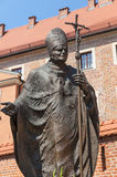Staty av påven John Paul II Royaltyfri Fotografi