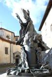 Staty av påven Paulus VI i Varese, Italien Royaltyfri Fotografi