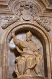 Staty av påven Pius III i Siena Cathedral Royaltyfri Bild