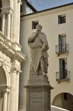 Staty av Palladio i Vicenza Arkivbilder