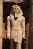 Staty av pharaohen i ett tempel nära Luxor i Egypten royaltyfri bild