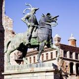 Staty av Pizarro Trujillo Spanien Arkivbild