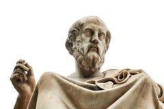 Staty av Plato i Aten arkivbild