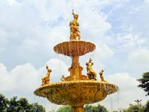 Staty av pojkar som spelar musikinstrument Royaltyfria Bilder