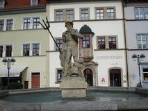 Staty av Poseidon i Weimar Arkivfoton