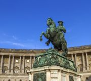 Staty av prinsen Eugene, Hofburg slott, Wien, Österrike royaltyfri bild
