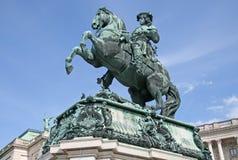 Staty av prinsen Eugene, Hofburg slott, Wien, Österrike Arkivfoto