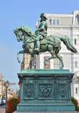 Staty av prinsen William I i historisk mitt av Hague, Nederländerna Arkivfoton
