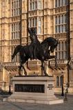 Staty av Richard I Fotografering för Bildbyråer