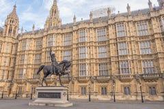 Staty av Richard I i London Fotografering för Bildbyråer