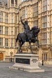 Staty av Richard Lionhearten Fotografering för Bildbyråer