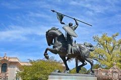 Staty av Rodrigo Diaz de Vivar Royaltyfri Foto