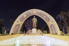 Staty av Rudaki dushanbe tajikistan Royaltyfri Fotografi