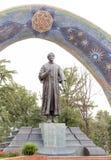 Staty av Rudaki dushanbe tajikistan Arkivbild