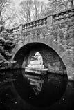 Staty av Sabrina, gudinna av floden Severn, i Shrewsbury Arkivfoton