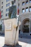 Staty av Salvator Allende, Santiago de Chile, Chile Arkivfoto