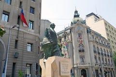 Staty av Salvator Allende, Santiago de Chile, Chile Arkivfoton