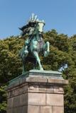 Staty av samurajer i Tokyo Fotografering för Bildbyråer