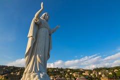 Staty av Santa Margherita på den Tigullio golfen av Santa Margherita Arkivbilder